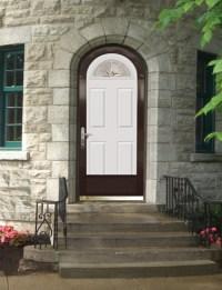 Archtop Door & Prehung Knotty Alder Arch Top Front Door ...