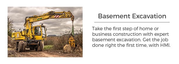 Basement excavation for MN homes and businesses