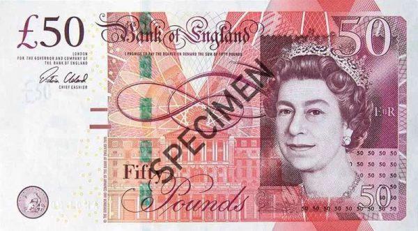 新版50英鎊出爐 英將告別紙鈔時代 - 好旺角收藏網