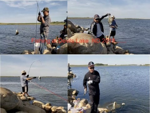 Hmong Fishing at ND Devils Lake2019..Fun Fun trip