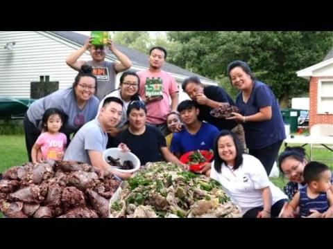 Hmong American Cooking Yummy Food/hmoob meskas Tua Npua ua nqaij noj qab tiag2