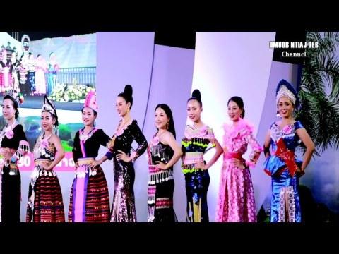 Cov ntxhais nkauj ntsuab Hmoob Laos hnav Hmong fashion