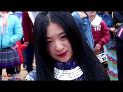 Đi chơi hội tết vùng cao bắt gặp em gái Hmong xinh nhất lễ hội GẦU TÀO Pha Long 2020