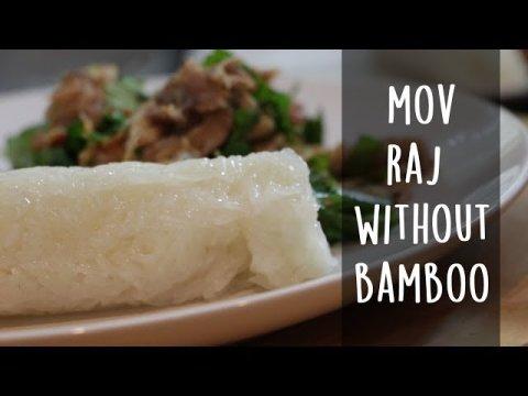 Hmong Food | Sweet Coconut Rice Hmoob Mov Raj by Kuv Tsev
