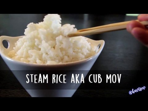 Hmong Food | How to Steam Rice or Cub Mov by Kuv Tsev