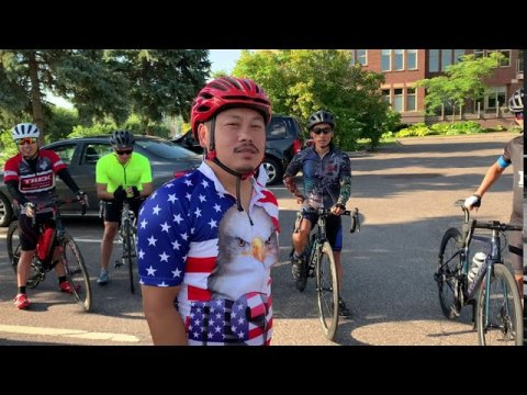 8/1/20 Hmong Cycling&Black Eagle 60Miles cycling around twin cities.....