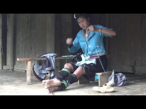 Hmong Tribe Women Sewing Cloth in Sapa Vietnam #culture Indigenous  Ethnic People  Tribal Life