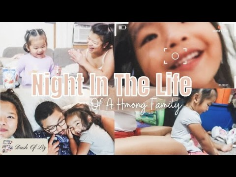Night In The Life Of A Young Hmong Family | Leona Vlogs | Our Weekday Nights | Dash Of Liz