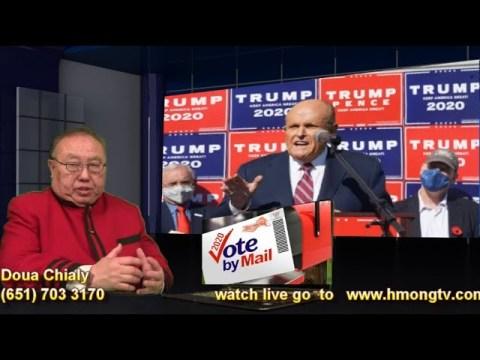 hmong tv  11/10/2020   TRUMP UA PLAUB NROG COV DEMOCRATIC