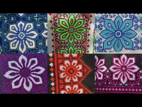 paj ntaub tawm tshiab, paj ntau xaws ua paj zoo nkauj heev, hmong embroidery cross stitch 12.15.2020