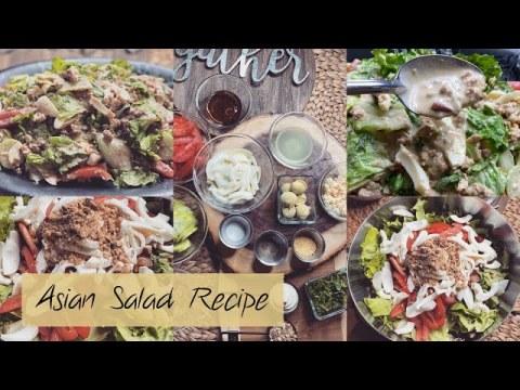 Asian Salad Recipe | Lao Yum Salad | Hmong Mien Salad | Lao Food | Easy Salad Recipe | Delicious