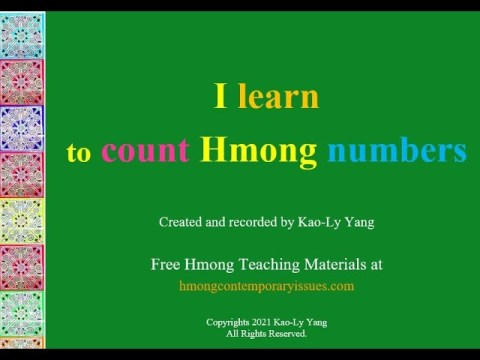 HOW TO COUNT HMONG NUMBERS?