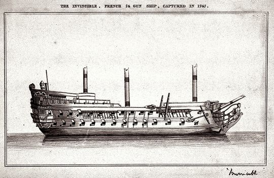The Invincible after her capture. in 1747