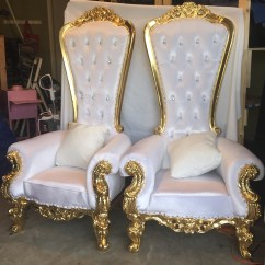 King And Queen Chairs For Rent Eames Replica Perth Hms Party Rental Llc