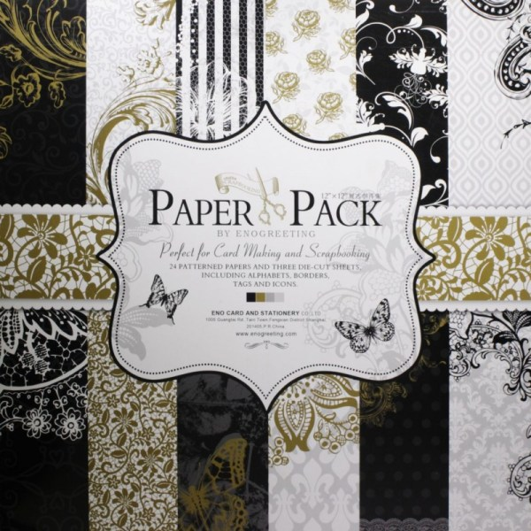 12x12 Enogreeting Scrapbook Paper Pack - Floral Set Of 24 Sheets And 3 Die Cut