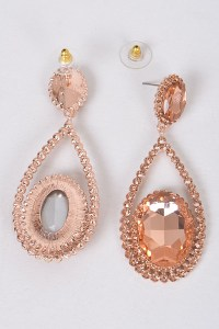 Elegant Earrings Formal 4 Long Gold Aurora Ab Crystal ...