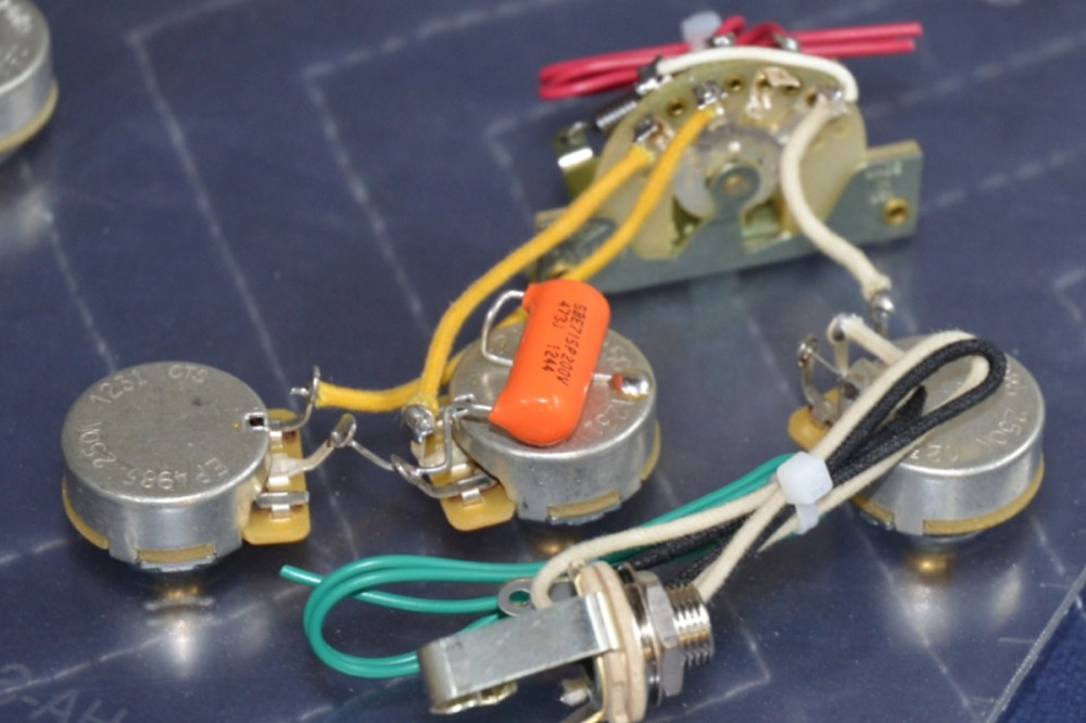 medium resolution of stratocaster wiring harness hh 2 volumes 1 tone