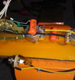 esquire mike eldred mod wiring harness for a 1 pickup guitar [ 4160 x 3120 Pixel ]