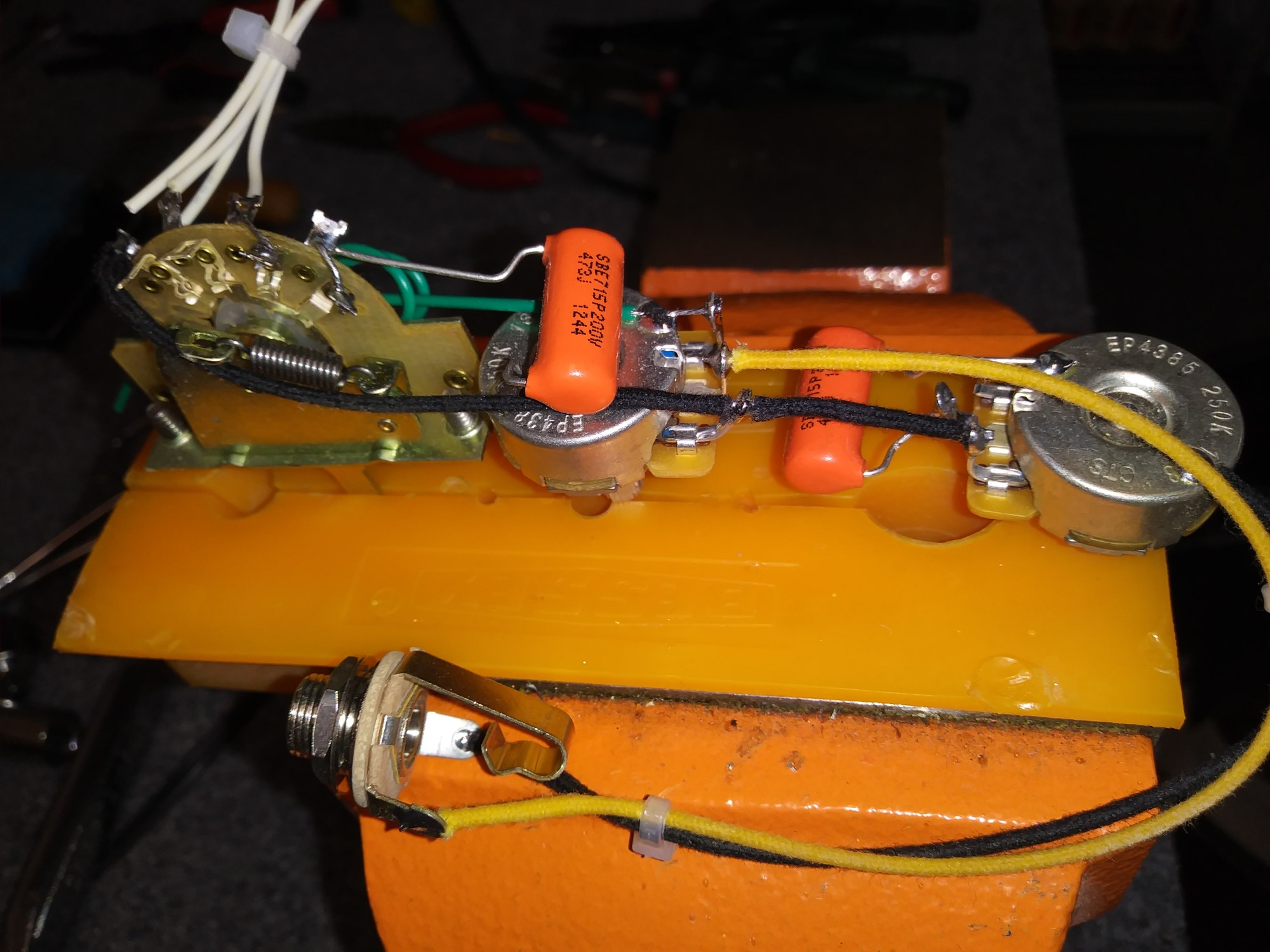hight resolution of esquire mike eldred mod wiring harness for a 1 pickup guitar