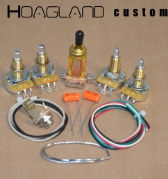 les paul sg style wiring harness kit long shaft pots hoagland custom [ 1039 x 769 Pixel ]
