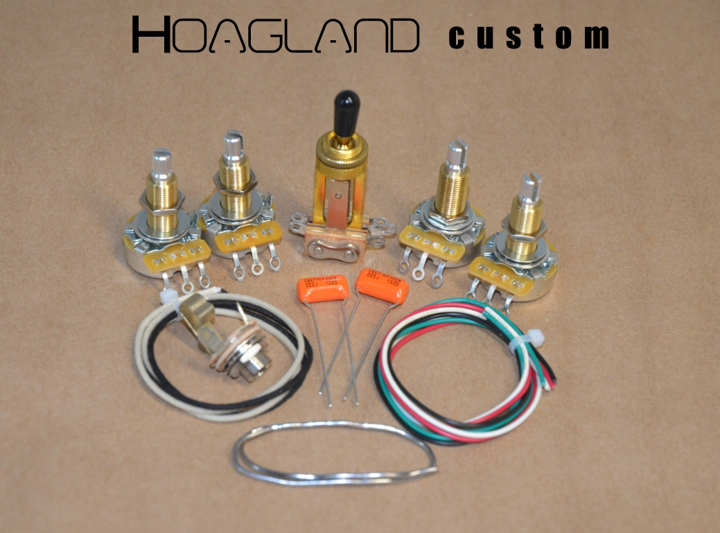 hight resolution of les paul sg style wiring harness kit long shaft pots hoagland custom