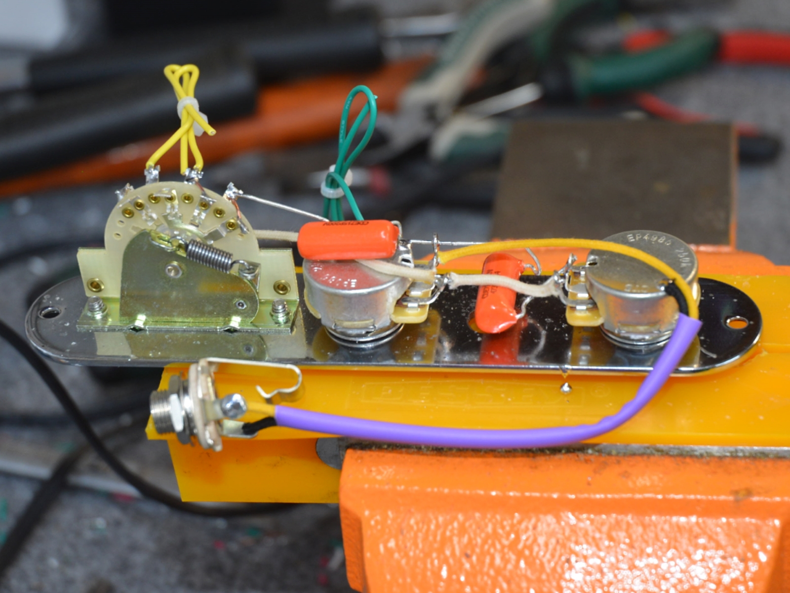 hight resolution of 1953 telecaster blackguard wiring harness handcrafted by hoagland custom