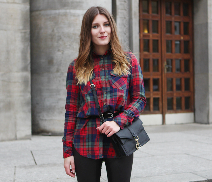 0e0688383a6 outfit  check shirt and faux fur. – Hoard of Trends