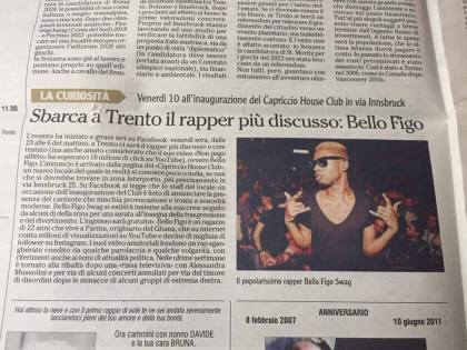 Bello Figo a Trento, la bufala che riempie i giornali. Tra i boccaloni anche L'Adige stampato e online…