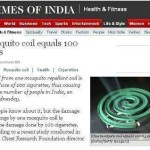 Picture: One Mosquito coil equals 100 Cigarettes