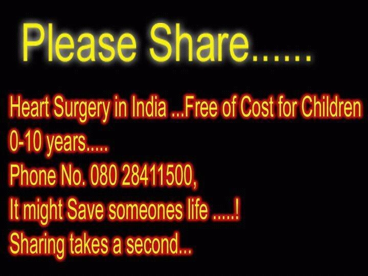 Picture: Heart Surgery Free of Cost for Children 0-10 years
