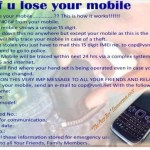 Picture about: If You Lose your Mobile Phone