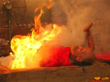 Picture about The Supernatural Fire Yogi of Tanjore