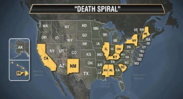 Picture about 11 States of America in Financial Death Spiral