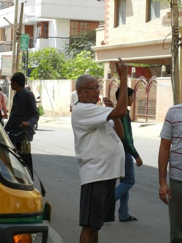 Picture: 64 Years Old Ramprasad B M Manages the Traffic in Bangalore