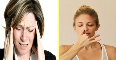 Picture about Alternate Nostril Breathing, a Natural Therapy for Curing Headaches