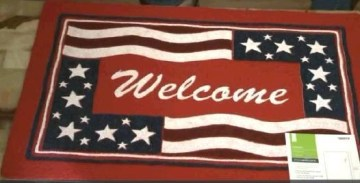 Picture about Lowe's Selling American Flag Doormats