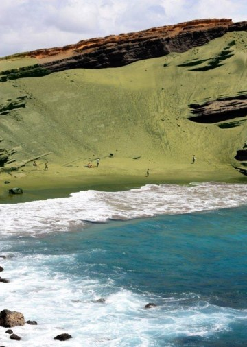 Picture about Papakolea Beach, the Only Green Sand Beach in the World