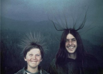 Picture about Two Brothers Pose for a Photo Before Lightning Struck Them