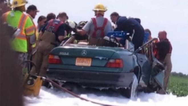 Picture: Angel Priest Visits Missouri Accident Scene
