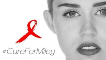 Picture about Singer Miley Cyrus has Contracted HIV AIDS