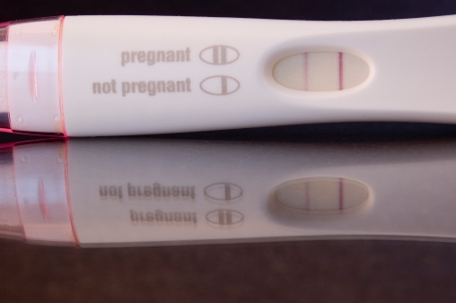 Picture about Home Pregnancy Test in Man Indicates Testicular Cancer