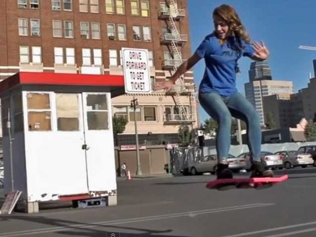 Picture about Hoverboards are Real - HUVr - The Future has Arrived