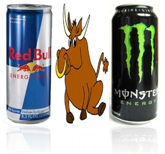 Picture about Energy Drinks Red Bull and Monster Contain Bull Sperm