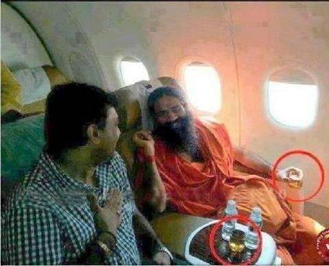 Picture about Baba Ramdev Drinking Alcohol