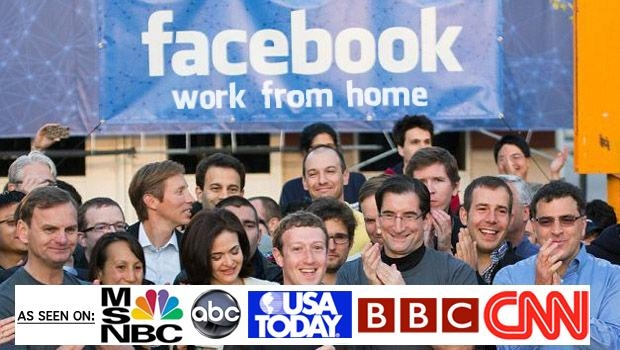 Picture about Facebook's Work From Home Program Scam