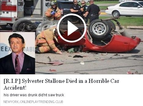 Picture about Sylvester Stallone Died in a Horrible Car Accident