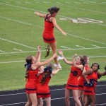 Picture about Cheerleader Poops During Football Game