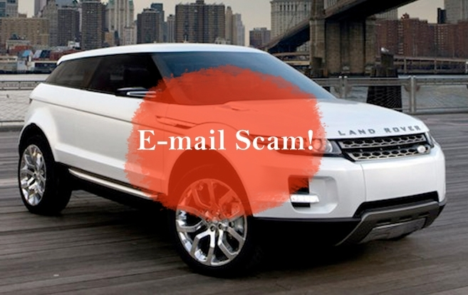 Land Rover Motors Promotion, United Kingdom: Email – Scam