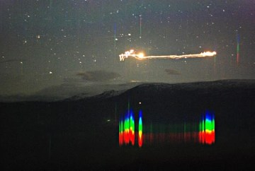 Picture of Mysterious Glowing Orbs of Hessdalen in Norway