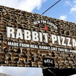 Picture about Dead Rabbit Pizza Billboard in New Zealand